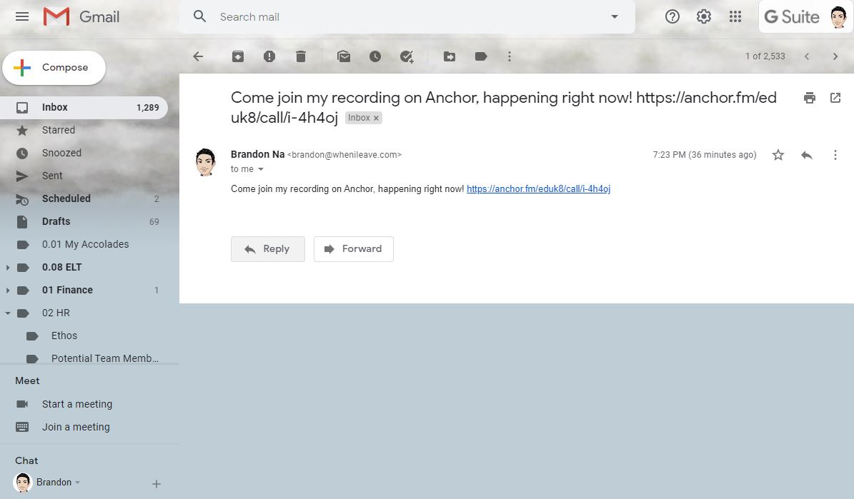 anchor app link in email